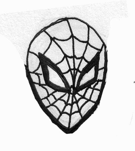 how to draw spiderman face yt