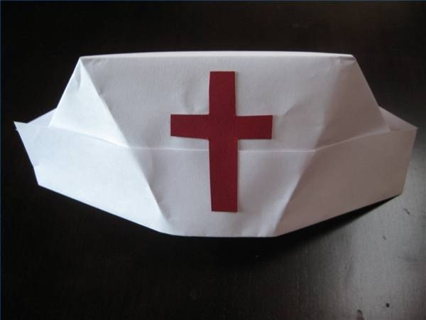 How to Fold a Nurse's Hat (with Pictures)   eHow Vintage Graduation Cap