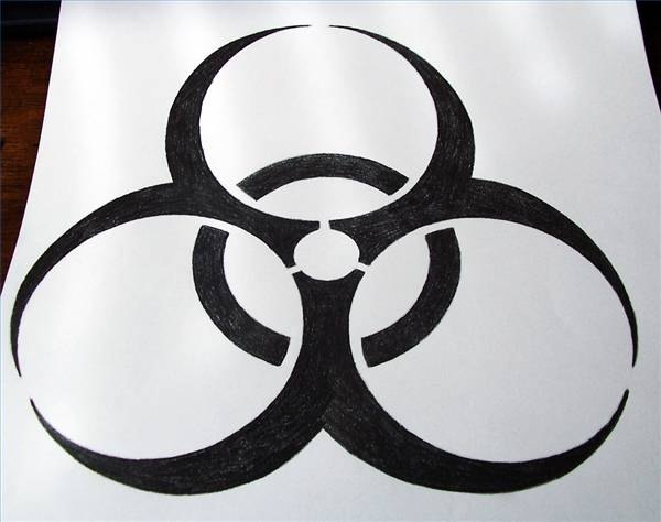 Draw the Biohazard Sign