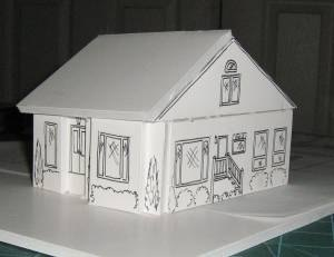 Instructions building a model house