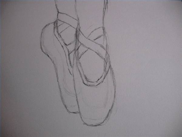ballet shoes drawing easy - photo #6