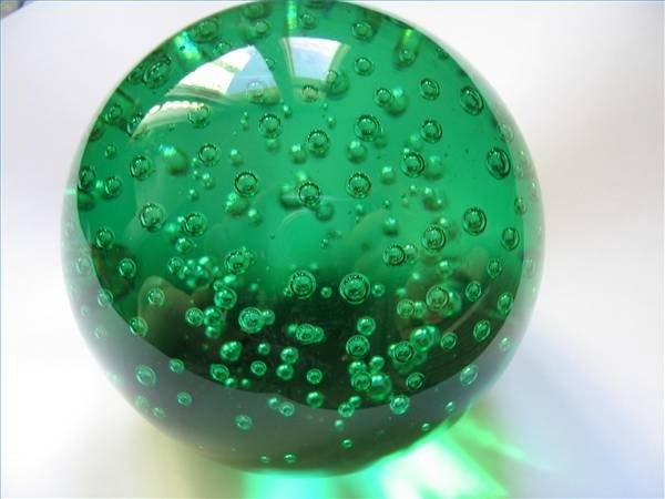 Green paperweight