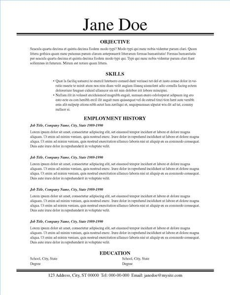 A traditional resume layout focuses on your skills, without fussy details.