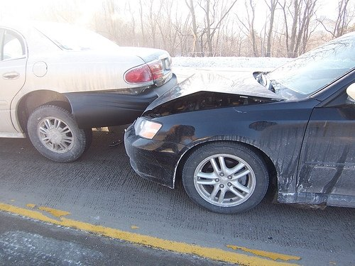 Rear-impact car accident. Photo by xersti: Flickr.com