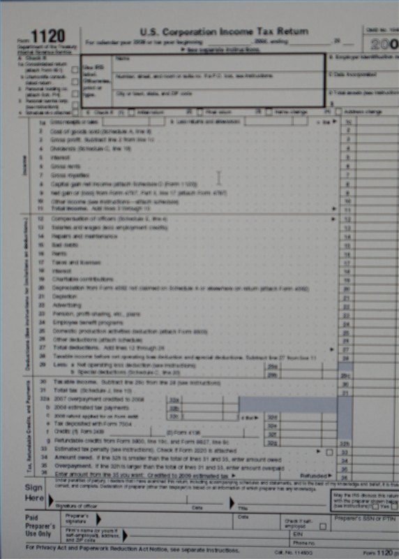 Corporate tax returns are comprised of a variety of financial and informational data.