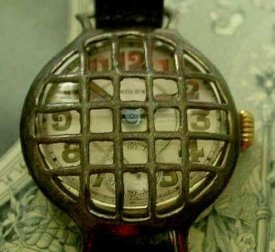 A World War I-era armored military trench wristwatch