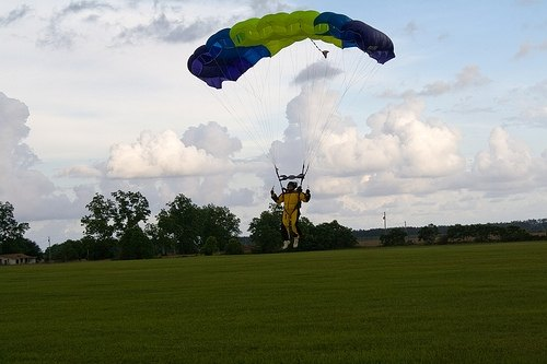 Try something new, such as skydiving.