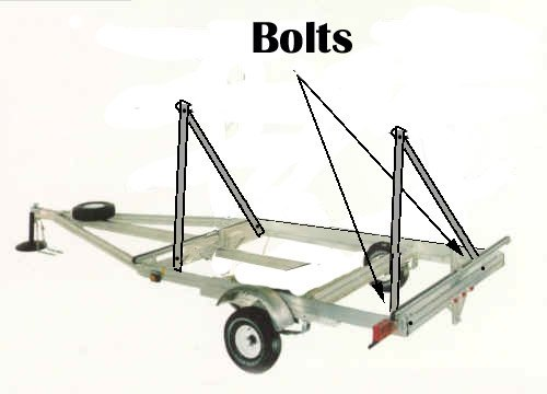 Bolt the Second Set of Legs to the Back of the Trailer Frame.