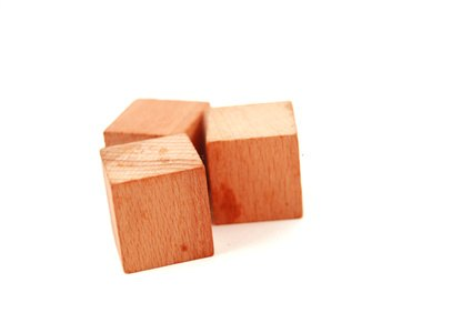 Wood blocks can be any thickness you find attractive but must be thick enough to hold screws.