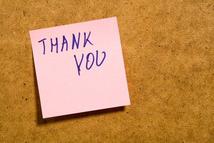 A thank you note is recommended in many situations.