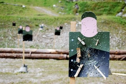 Silhouette pop-up targets are used to qualify on the M16 or M4 rifle.