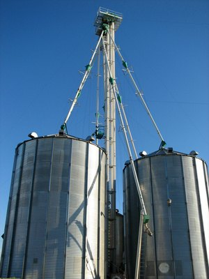 Ohio does not tax the sale or construction of grain bins for farms.