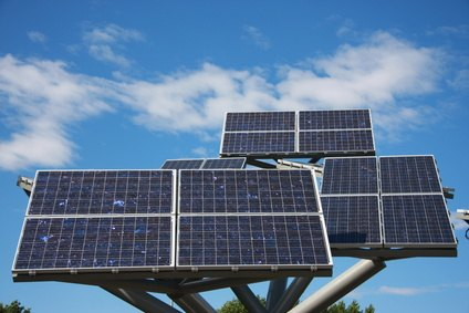 Linking solar panels together increases electrical output.