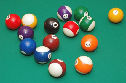 Pool ball colors rarely vary from one venue to the next.