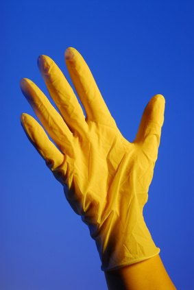 Use gloves to avoid skin irritation from rust remover.