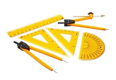 Many of the basic drafting tools are also used in basic geometry classes.