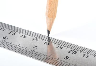 Pencil marking ruler