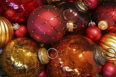 Assortment of Christmas ornaments