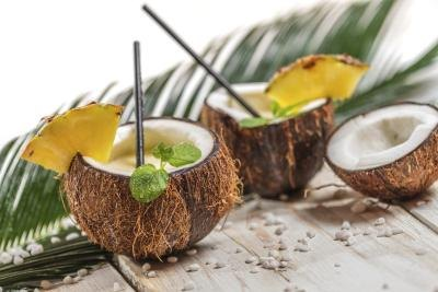 Punch in coconut cups