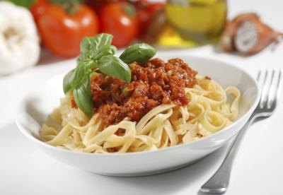 Pasta is a major carbohydrate.