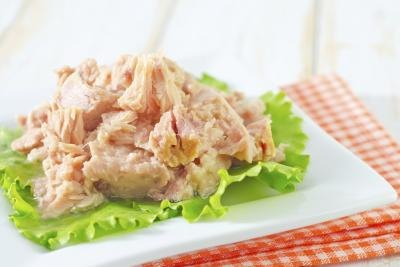 A plate of tuna fish.