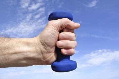 Wrist curls strengthen the wrists and the elbows.