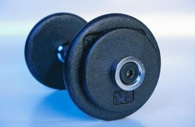Turn dumbbells on end for floor pullovers.