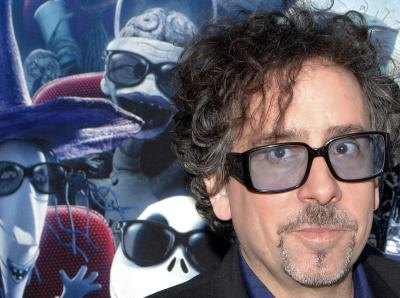 Tim Burton with Characters from Nightmare Before Christmas
