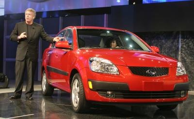 KIA Rio being introduced in 2006 car show