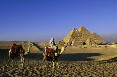 Desert landscape of Egypt.