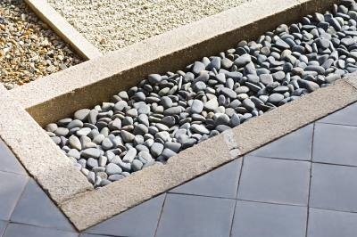Small pebble garden.
