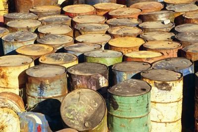 Oil drums, used