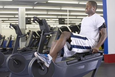 You can add arm exercises to intensify a typical recumbent bike workout.
