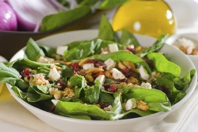 A fresh spinach salad