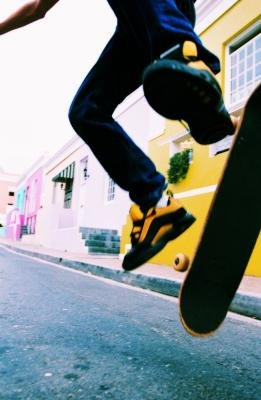 Skate shoes are specifically designed and manufactured for skateboarding.