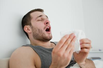 Sneezing can spread colds.