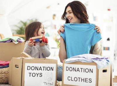 Deduction amounts for donated clothing have to be substantiated.