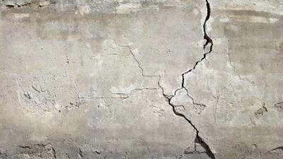 Heaving crack in concrete