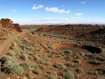 The landscape of an ancient Native American ruin in Arizona.