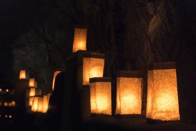 Candles in paper bags