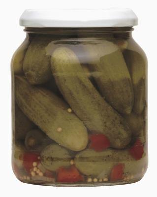 A jar of pickles usually contains benzoic acid.