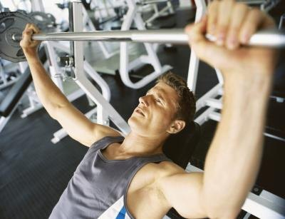 The bench press or incline press is a good place to start with strength training.