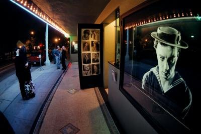 Picture of Buster Keaton on Silent Movie Theatre wall display