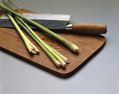 lemongrass on cutting board