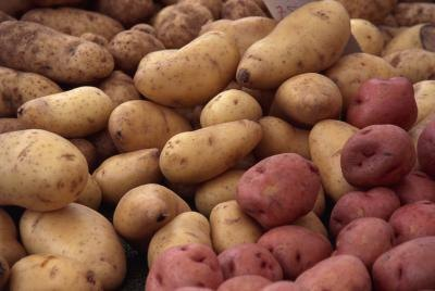 Potatoes are a source of potassium.