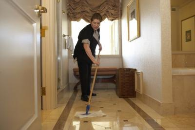 Cleaning lady.