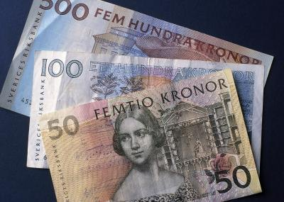 A selection of Swedish Kronas.