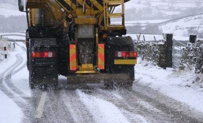 Calcium chloride is used in snow removal.