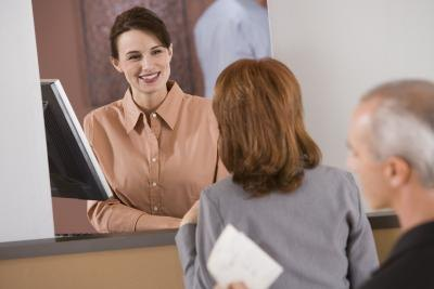 Interacting with the public is a big part of being a bank teller.