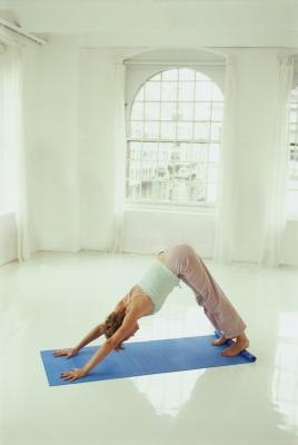 "Animal imagery abounds in yoga asanas; this classic is called ""Downward Facing Dog""."